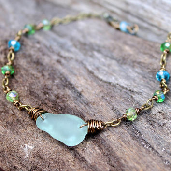 puerto handmade sand pinterest sun seaglass silver sunsandseaglass best anklet glass genuine anklets beach rico sea jewellery images on one