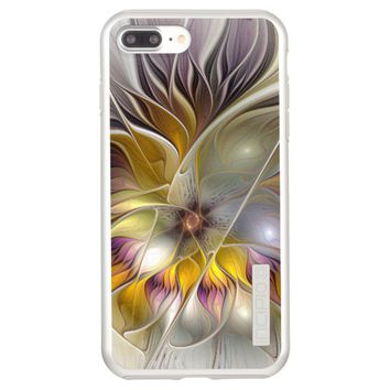Abstract Colorful Fantasy Flower Modern Fractal Incipio DualPro Shine iPhone 7 Plus Case