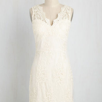 Let It Beguile Dress in Ivory | Mod Retro Vintage Dresses | ModCloth.com