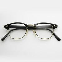Vintage Thin Horned Rim Half Frame Glasses 7208