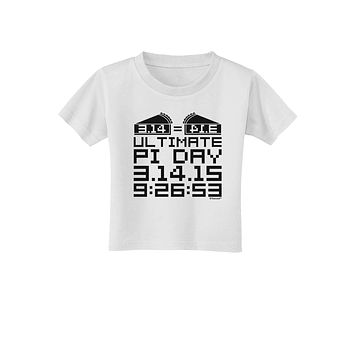 Ultimate Pi Day Design - Mirrored Pies Toddler T-Shirt by TooLoud