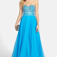 Women's Sherri Hill Embellished Strapless Gown