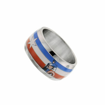 Captain America Stainless Ring Size 8