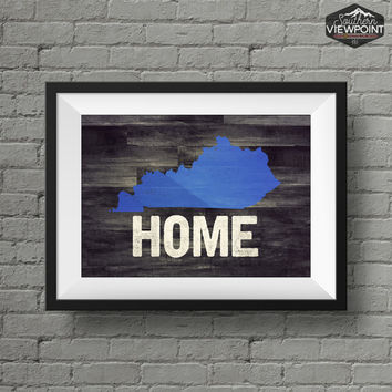Kentucky Print, State Wall Art, Kentucky Home Print, Printable Wall Art, Kentucky State Poster, Digital Poster Print, Kentucky Wall Decor,