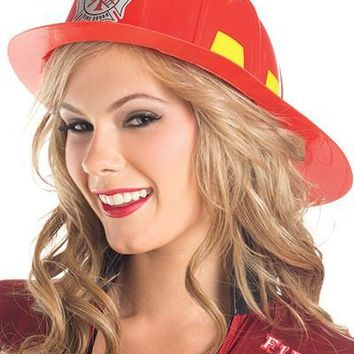 Be Wicked BW0710RD  Red Fireman's Hat