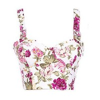 Floral Corset Top - Kely Clothing