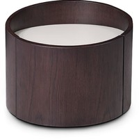Modrest Geneva - Modern Round Brown Oak Nightstand