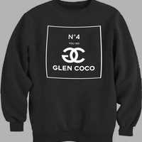 Glen COCO White Sweater for Mens Sweater and Womens Sweater ***