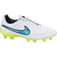 Nike Men's Tiempo Legend V FG Soccer Cleat - White/Blue/Volt | DICK'S Sporting Goods