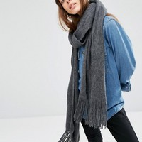 ASOS Long Tassel Scarf in Supersoft Knit at asos.com