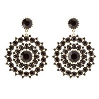 Faceted Stone Statement Drop Earrings by Charlotte Russe