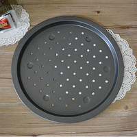 1PC 14 inch thickness Pizza plate baking tools pizza tray Home baking oven microwave oven use Non-Stick pizza pan Dish JC 0508