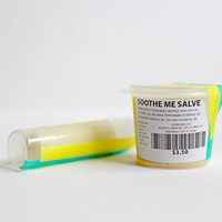 SOOTHE ME SALVE Mint and Chamomile Itch Relief Balm with anti-inflammatory properties in .80oz container or .20 oz stick.