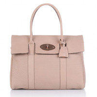 Buy Mulberry Bayswater | Mulberry Bayswater Bag-Maxi Grain Pink Natural Leather