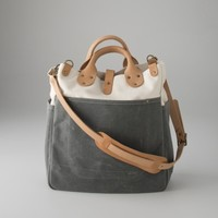 Waxed Canvas Utility Bag - Gray