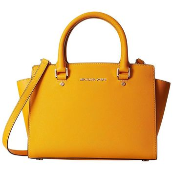 Michael Kors Selma Medium TOP ZIP Satchel SUN