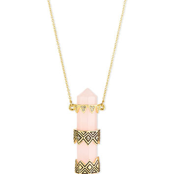 Prana Resin Pendant Necklace, Rose