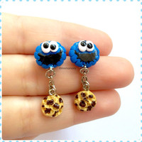 Super Cute Cookie Monster Earrings