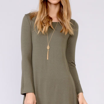 Scoop Neck Flared Dress