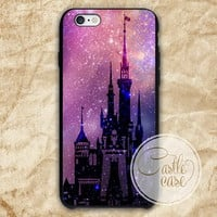 Fantasy disney castle disneyland phone case iPhone 4/4S, 5/5S, 5C Series, Samsung Galaxy S3, Samsung Galaxy S4, Samsung Galaxy S5 - Hard Plastic, Rubber Case