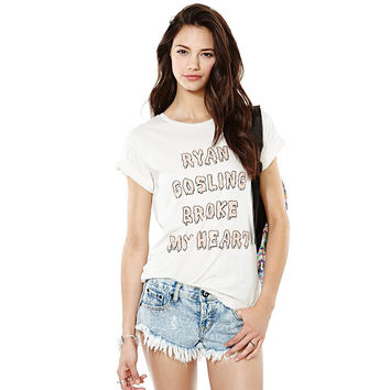 White Casual Letter Printed T-Shirt