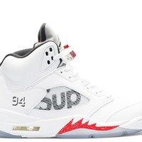air jordan 5 retro supreme supreme basketball sneaker-2