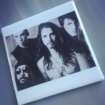 Soundgarden Band Ceramic Tile Coaster; House Decor; House Warming Gift; Musicians; Chris Cornell; Classic Rock; Grunge; Festival; Concert