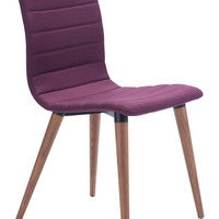 JERICHO DINING CHAIR PURPLE PACK OF 2