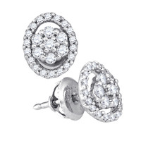 Diamond Fashion Earrings in 10k White Gold 0.49 ctw