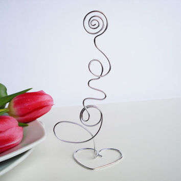 Wedding table holders, love favors, table holders, wedding table setting, wedding favor, table decoration, card holders, wire table holders