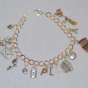 Free Ship - Pretty Little Liars Charm Bracelet, tv show, fan gift, pretty