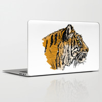 Tiger Drawing Laptop & iPad Skin by MaNia Creations