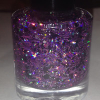 Purple Fire  Purple Holographic Glitter Handmade by Backwoodsnails