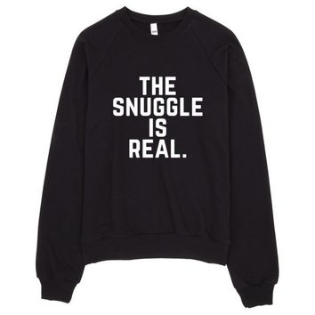 The Snuggle is Real Crew Neck Sweater Made in LA
