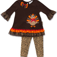 Rare Editions Baby Girls' 2-Piece Thanksgiving Set