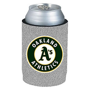 MLB 2013 Baseball Team Logo Womens Ladies Glitter Beer Bottle or Can Holder Koozie Cooler - All 30 Teams Avaialble! (Can, Oakland Atheltics)