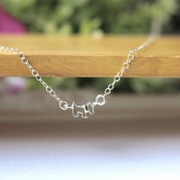 Tiny Dog Necklace, Sterling Silver Dog Necklace, Cut out dog necklace, Puppy Necklace, Silver Dog Necklace, Dainty necklace, Dog Lover Gift
