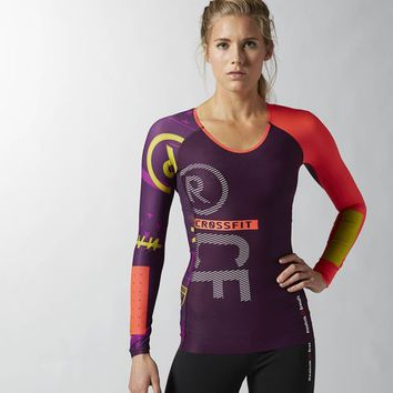 Reebok CrossFit PWR5 Compression Top - Fierce Fuchsia | Reebok US