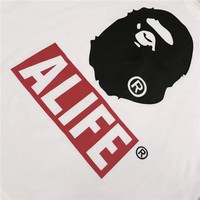 BAPE Unisex Fashion Casual Pattern Print T-shirt.