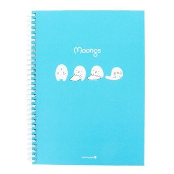 Moongs Hardcover 8mm Lined Spiral Notebook : Sky Blue $5.99
