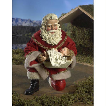 Christmas Figure - Fabrich   Santa And Baby