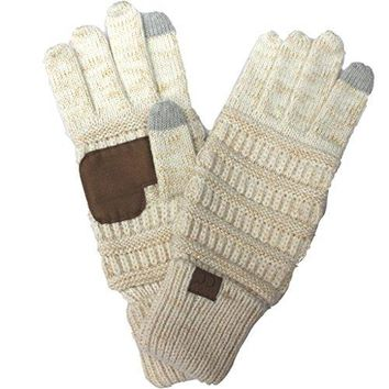 BYSUMMER C.C. Smart Touch Winter Warm Knit Touchscreen Texting Gloves