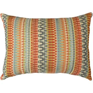 Better Homes and Gardens Woven Stripe Decorative Pillow, Orange Multicolor Standard