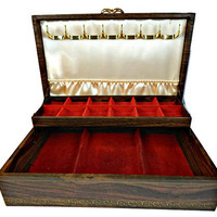 Mele Jewelry Box Wood Look Brown