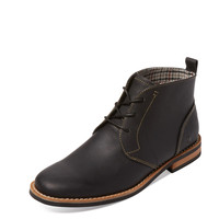 Original Penguin Men's Merle Leather Chukka Boot - Black -
