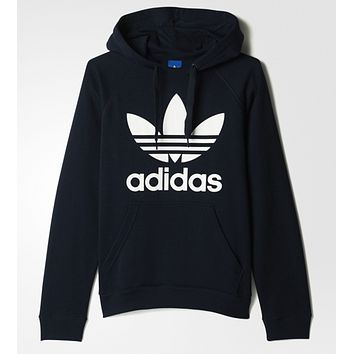 "Women Couple ""Adidas"" Print Velvet Hoodie Sweatshirt Tops Sweater Pullover"