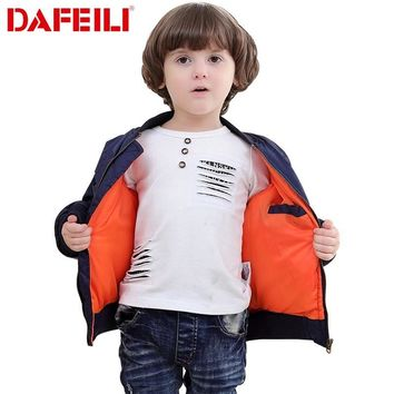 Trendy 2018 Thick Winter 2-12 years old Kids bomber flight jacket ma-1 pilot air force baby boys padded kids child baseball puffer coat AT_94_13