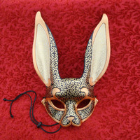 Venetian Rabbit Mask V20...  handmade leather rabbit mask