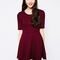 Monki Jacquard Skater Dress at asos.com