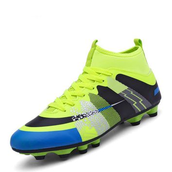 Men High Ankle Soccer Shoes Football Boots Men Soccer Cleats Sport Shoes High Quality Boys Kids Waterproof Football Boots
